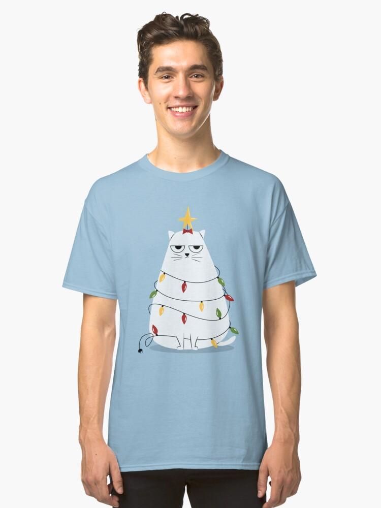 Grumpy Christmas Cat Classic T-Shirt Front