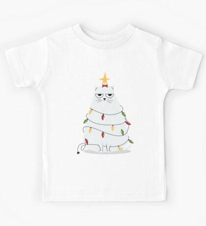 Grumpy Christmas Cat Kids Clothes