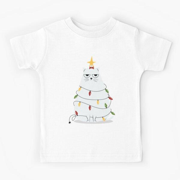 Grumpy Christmas Cat Kids T-Shirt