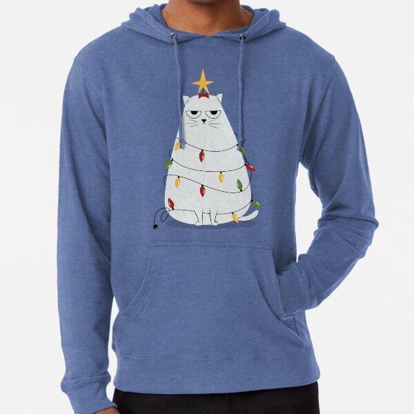 Chat de Noël grincheux Sweat à capuche léger