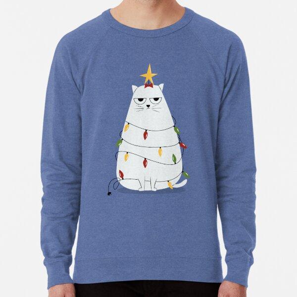 Grumpy Christmas Cat Lightweight Sweatshirt