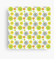 Miniature Colorful Floral Pattern Canvas Print