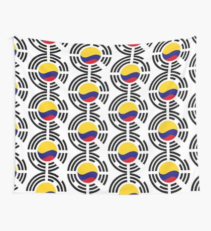 Korean Colombian Multinational Patriot Flag Series Wall Tapestry