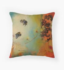 World Bumble Bee Throw Pillow