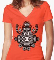 Râ Tatoo Women's Fitted V-Neck T-Shirt