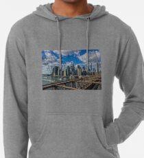 Sudadera con capucha ligera Brooklyn Bridge, New York, USA.