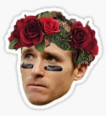 Flower Crown Drew Brees Sticker