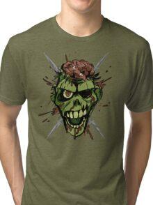zombie graphic Tri-blend T-Shirt
