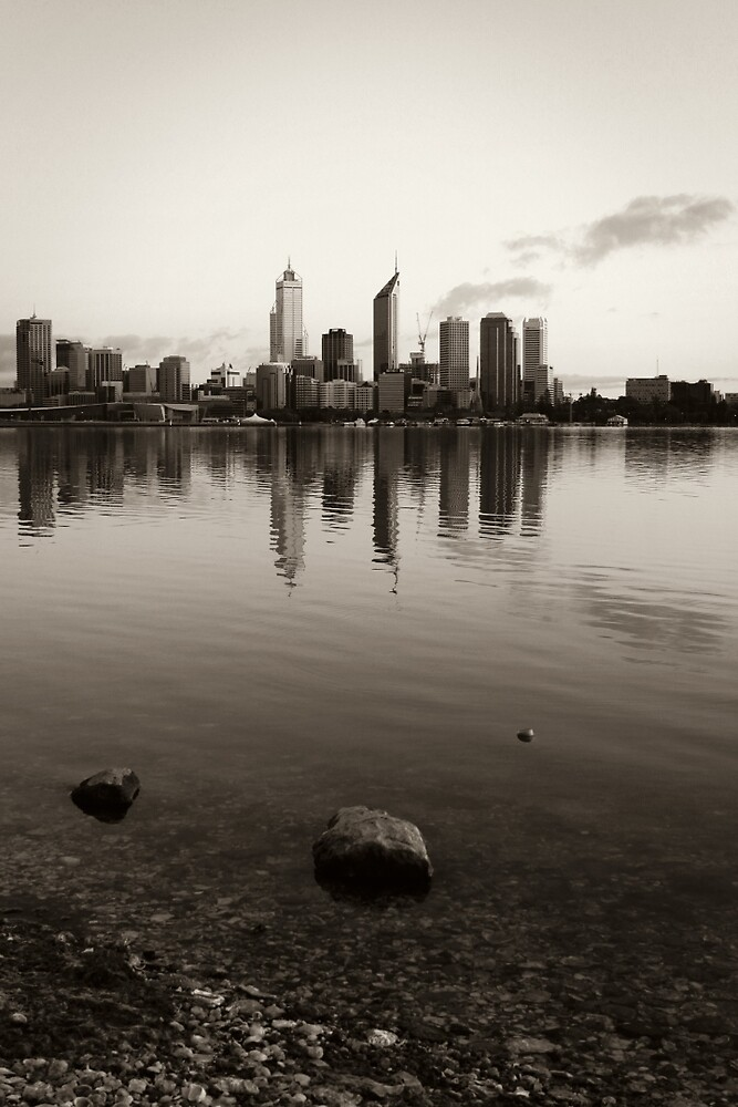 Perth City Skyline in Duotone by Martin Pot