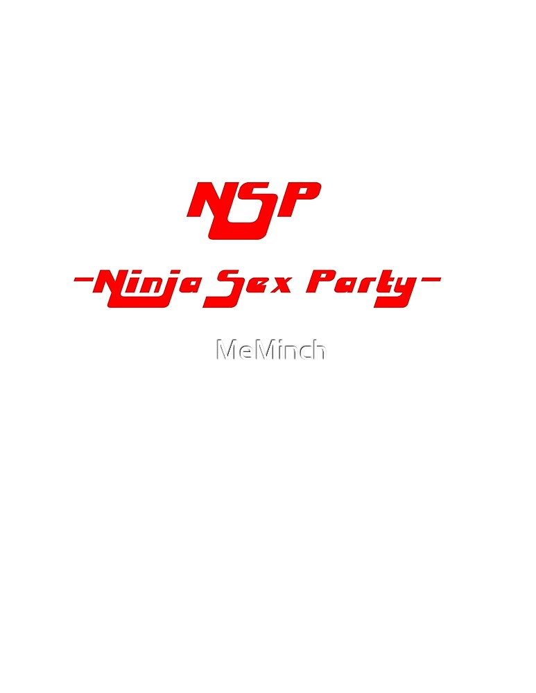 NSP - Ninja Sex Party BASIC RED by MeMinch