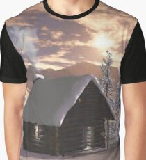 Winter Cabin  Graphic T-Shirt