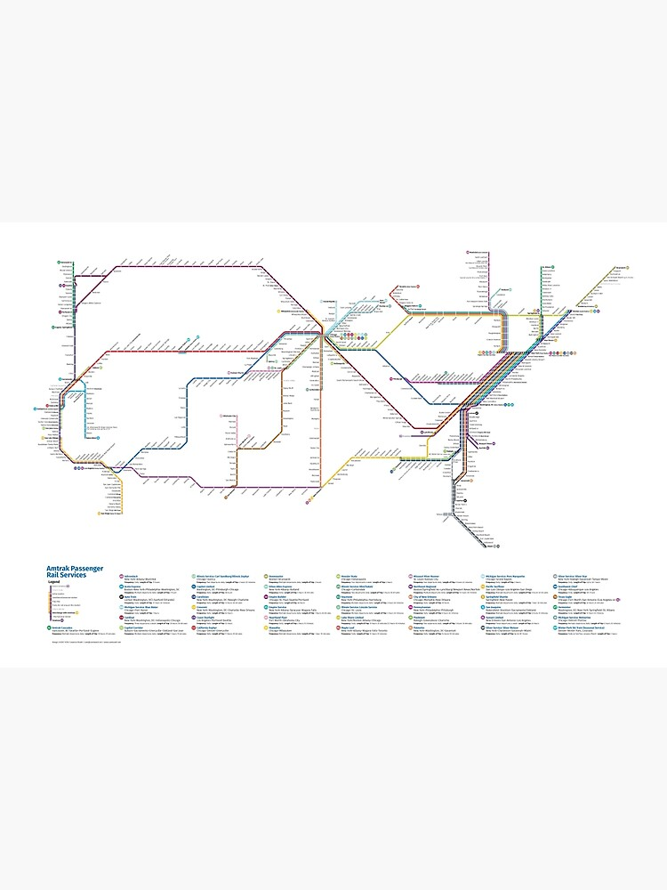 U.S. Rail Network as a Subway Map by Chaosboy