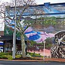 Mural, Rotorua, New Zealand. by Margaret  Hyde