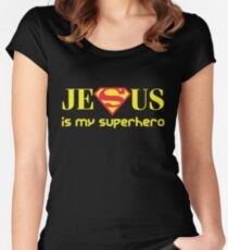 Jesus Is My Superhero Women's Fitted Scoop T-Shirt