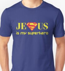 Jesus Is My Superhero Slim Fit T-Shirt