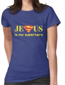 Jesus Is My Superhero Womens Fitted T-Shirt