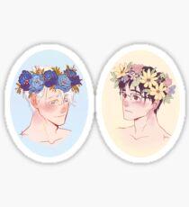 Victuuri Flower Crowns Sticker