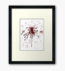 Blood & Bullet wounds Framed Print