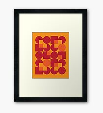 Orange Modernist Pattern Framed Print