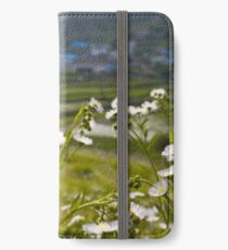 Wildflowers and a village in South Korea iPhone Wallet/Case/Skin