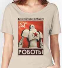robot ussr steampunk Women's Relaxed Fit T-Shirt