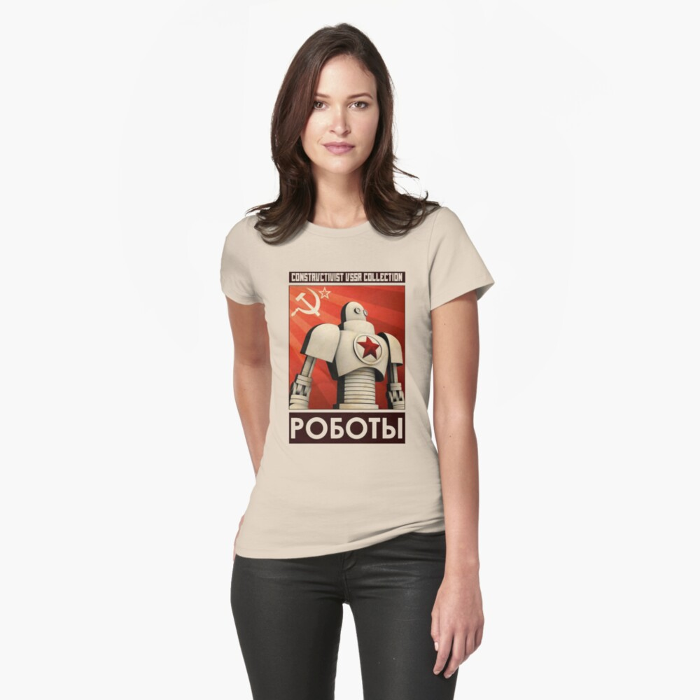 robot ussr steampunk Fitted T-Shirt