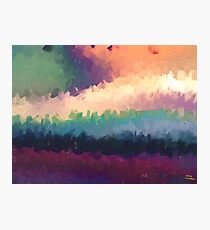 abstract expressionist landscape green Photographic Print