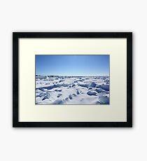 Leelanau Michigan Ice Framed Print