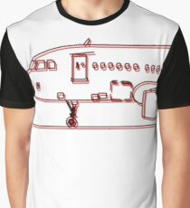 Air Bus Side Two Lines Graphic T-Shirt