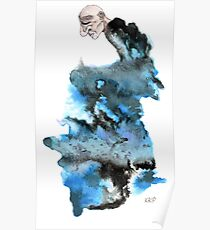 Black and Blue Ugly Man Poster