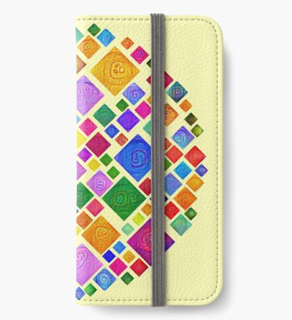 #DeepDream Color Squares Square Visual Areas 5x5K v1448810610 Transparent background iPhone Wallet