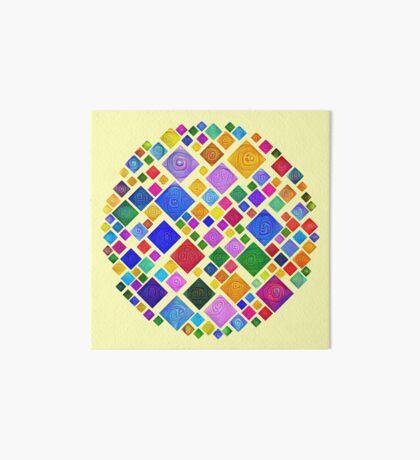 #DeepDream Color Squares Square Visual Areas 5x5K v1448810610 Transparent background Art Board Print