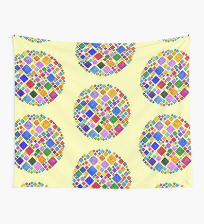 #DeepDream Color Squares Square Visual Areas 5x5K v1448810610 Transparent background Wall Tapestry