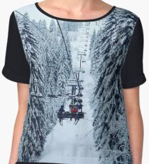 Chair Lift Chiffon Top