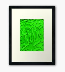 BRAINS (Zombies) Framed Print