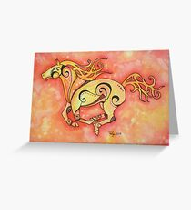 The Fire Horse Greeting Card