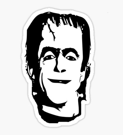 herman munster t-shirt Sticker