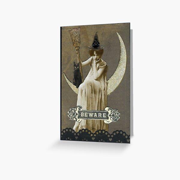 Bad Mood Moon Greeting Card