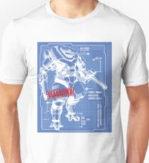 BLUEPRINT TEE - POWER ARMOR ARMY 1 Unisex T-Shirt