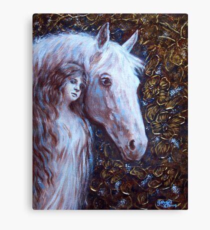White Horse Beauty Canvas Print