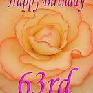 Happy 63rd Birthday Flower by martinspixs