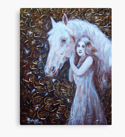 White Horse Beauty III Canvas Print