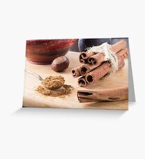 Ingredients for cooking in the kitchen Greeting Card