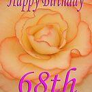 Happy 68th Birthday Flower by martinspixs