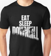 Eat Sleep Downhill Freeride Mountain Bike MTB T Shirt T-Shirt