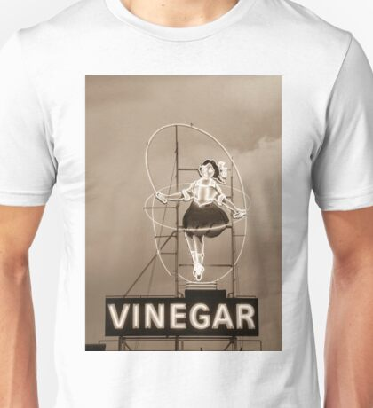 Skipping Girl Sepia Unisex T-Shirt
