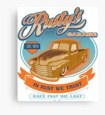 RUSTY GARAGE Canvas Print