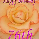 Happy 76th Birthday Flower by martinspixs