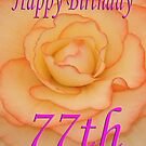Happy 77th Birthday Flower by martinspixs
