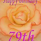 Happy 79th Birthday Flower by martinspixs
